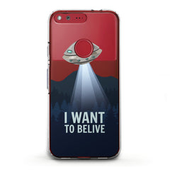 Lex Altern TPU Silicone Phone Case UFO Quote