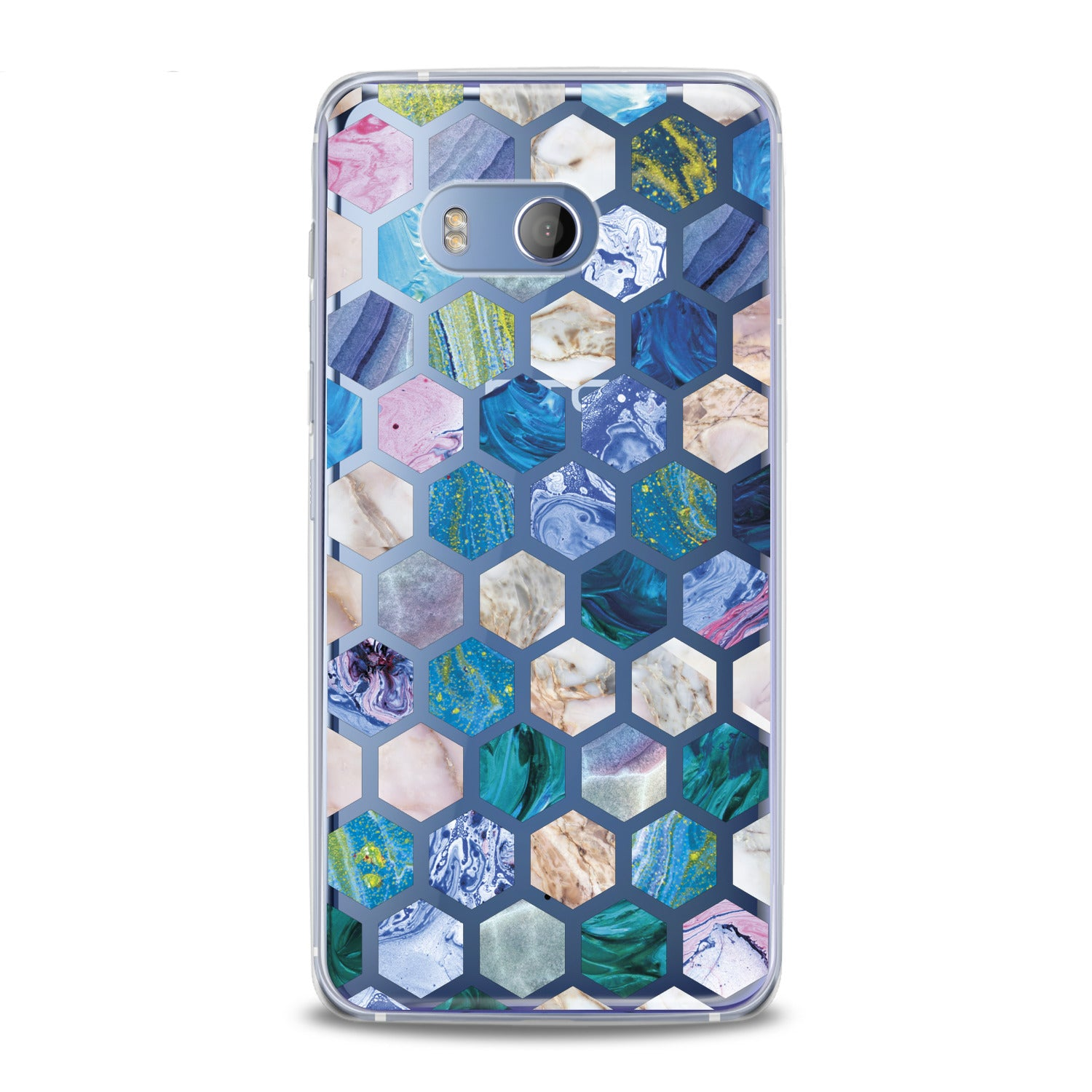 Lex Altern Blue Honeycombs HTC Case