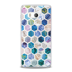 Lex Altern TPU Silicone HTC Case Blue Honeycombs
