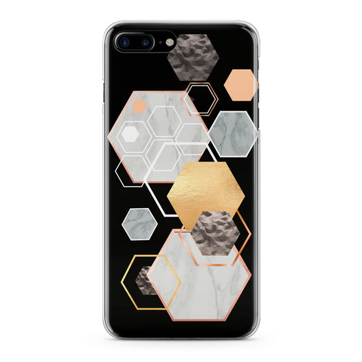 Lex Altern Geometric Hexagons Phone Case for your iPhone & Android phone.