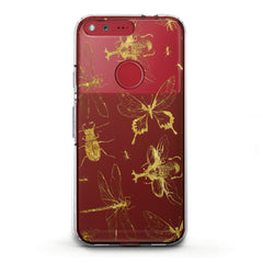 Lex Altern TPU Silicone Phone Case Golden Insects