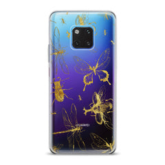 Lex Altern TPU Silicone Huawei Honor Case Golden Insects