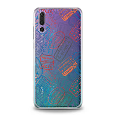 Lex Altern Colored Stamps Huawei Honor Case