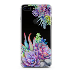 Lex Altern Violet Succulent Phone Case for your iPhone & Android phone.