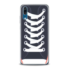 Lex Altern TPU Silicone Huawei Honor Case White Shoelaces