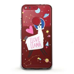 Lex Altern TPU Silicone Phone Case Love Llama