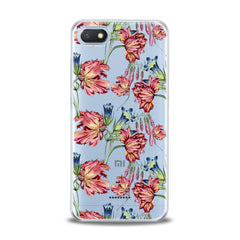 Lex Altern Red Peonies Art Xiaomi Redmi Mi Case