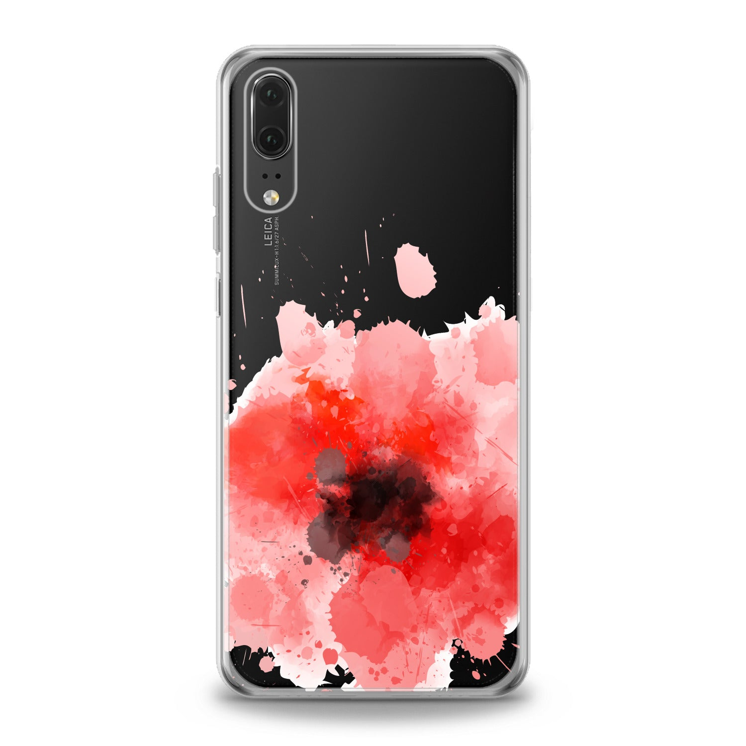 Lex Altern Red Watercolor Poppy Huawei Honor Case