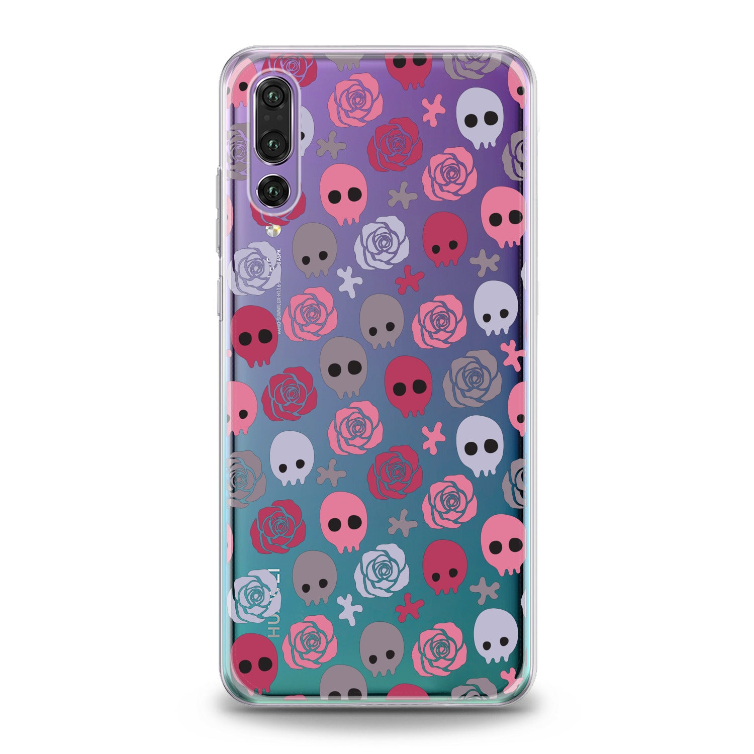 Lex Altern Floral Skulls Huawei Honor Case