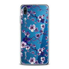 Lex Altern TPU Silicone Huawei Honor Case Blue Flowers