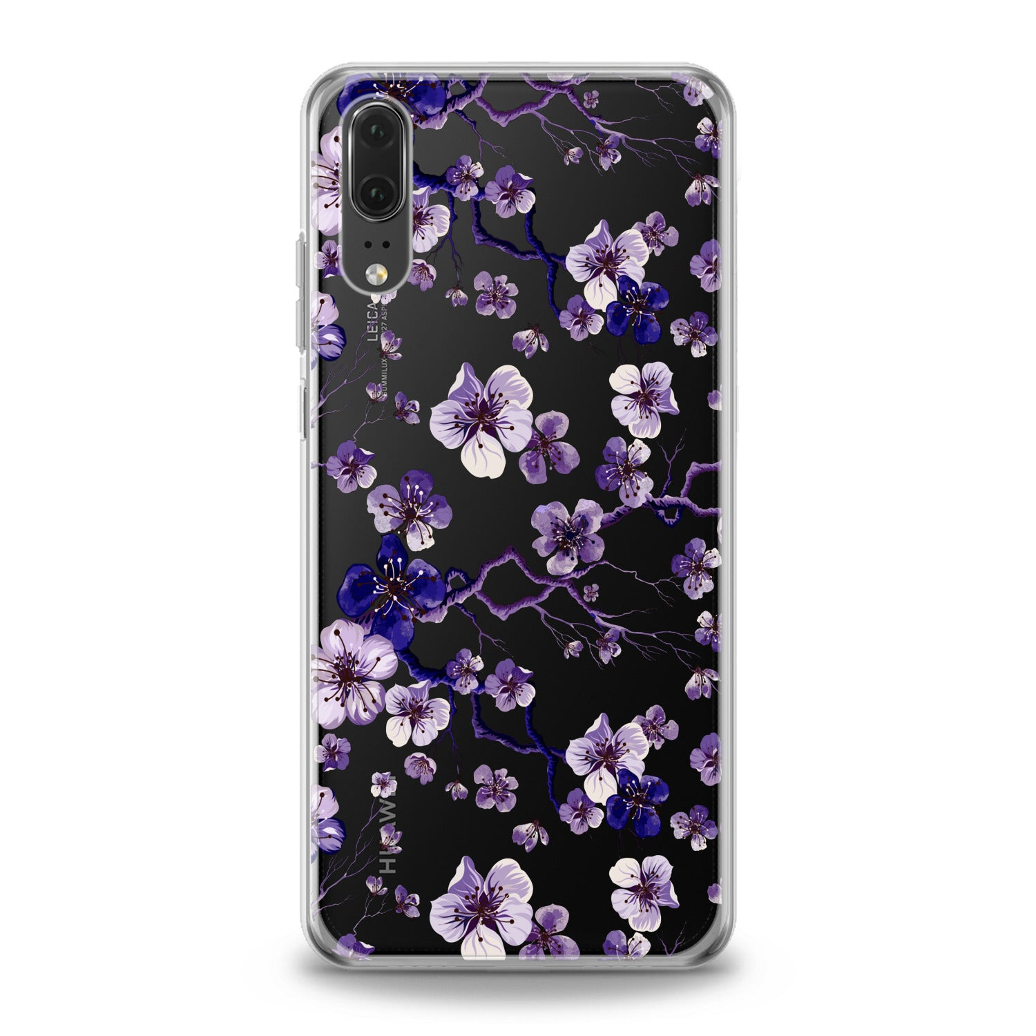 Lex Altern Blue Flowers Huawei Honor Case