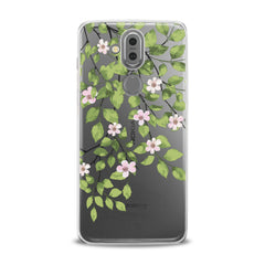 Lex Altern TPU Silicone Phone Case Green Floral Branches