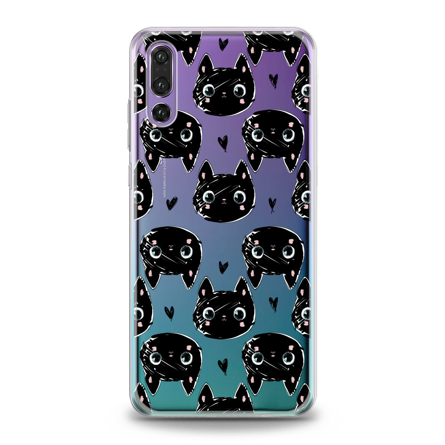 Lex Altern Black Cats Huawei Honor Case