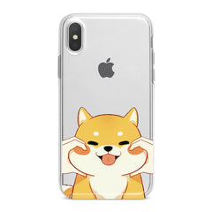 Lex Altern Smiling Shiba Inu Phone Case for your iPhone & Android phone.