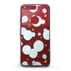 Lex Altern TPU Silicone Phone Case Blue Bubbles