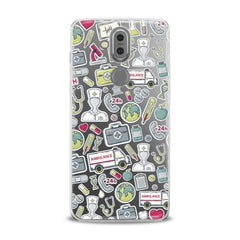 Lex Altern TPU Silicone Phone Case Nice Medical Stickers