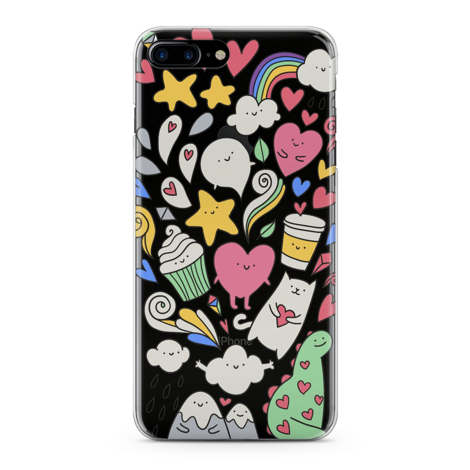 Lex Altern Lovely Stickers Art Phone Case for your iPhone & Android phone.