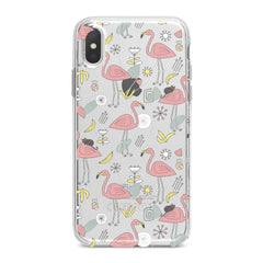 Lex Altern TPU Silicone Phone Case Cute Pink Flamingo