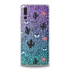 Lex Altern Black Cacti Stickers Huawei Honor Case