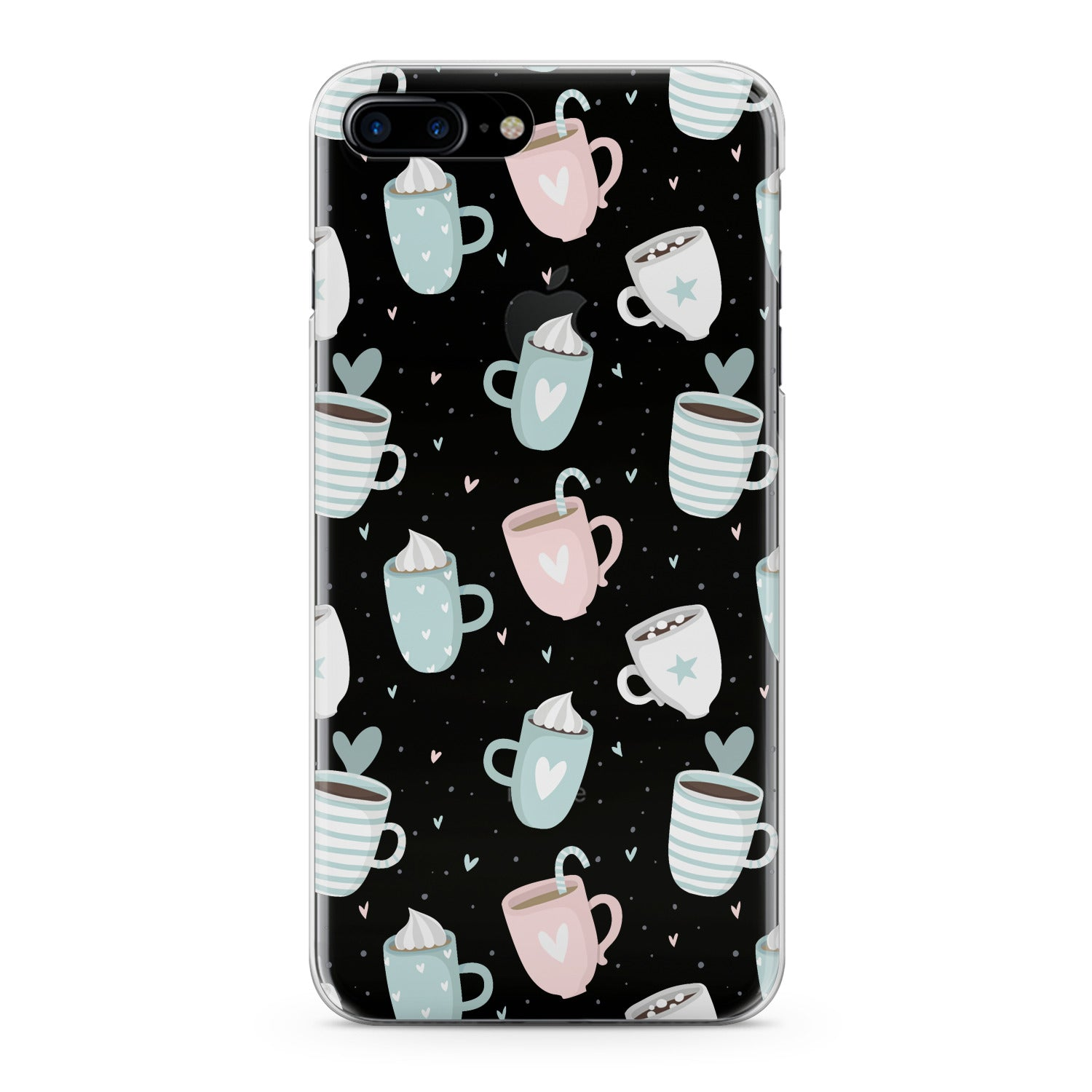 Lex Altern Pastel Cups Cappuccino Phone Case for your iPhone & Android phone.