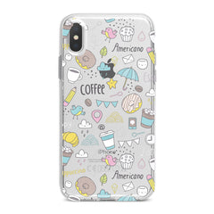 Lex Altern TPU Silicone Phone Case Sweets Coffee Pattern