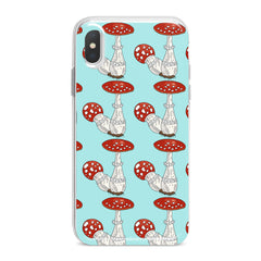 Lex Altern Bright Amanita Pattern Phone Case for your iPhone & Android phone.