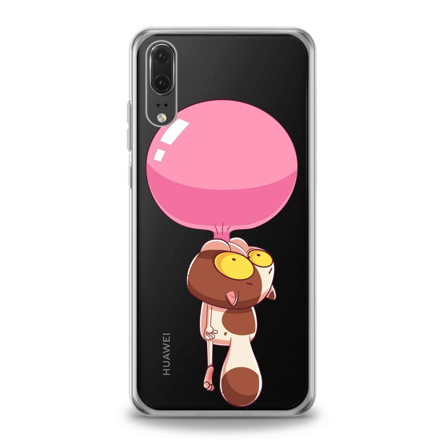 Lex Altern Cat Bubble Gum Huawei Honor Case