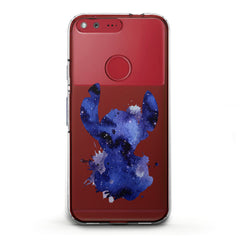 Lex Altern TPU Silicone Phone Case Blue Watercolor Stitch