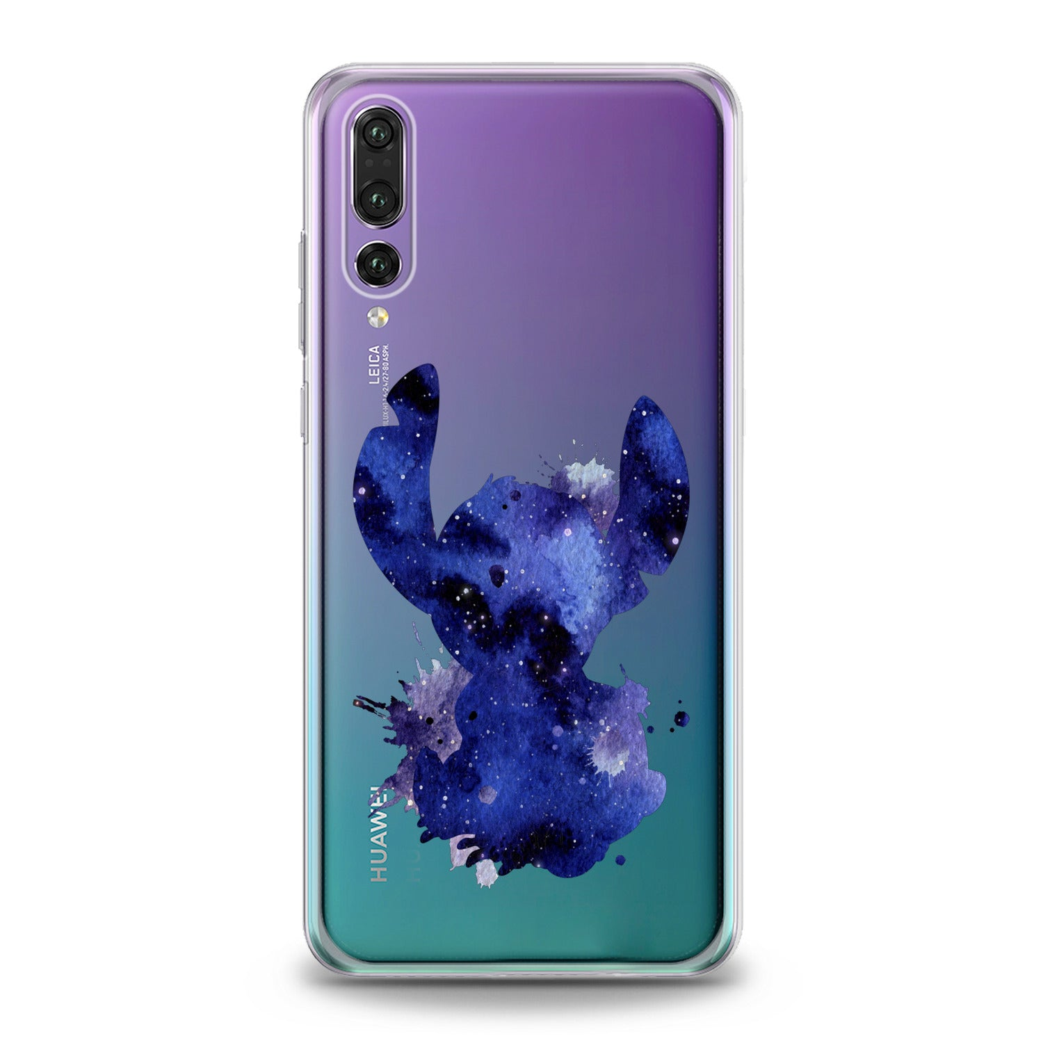 Lex Altern Blue Watercolor Stitch Huawei Honor Case
