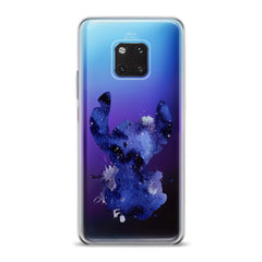 Lex Altern TPU Silicone Huawei Honor Case Blue Watercolor Stitch