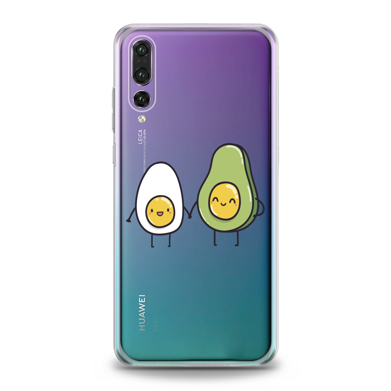 Lex Altern Egg Avocado Friends Huawei Honor Case