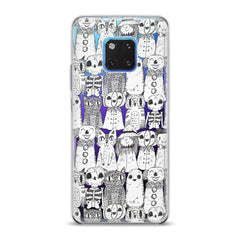 Lex Altern TPU Silicone Huawei Honor Case Pencil Drawing Cats