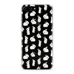 Lex Altern Cute White Bunnies Pattern Phone Case for your iPhone & Android phone.