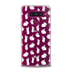 Lex Altern TPU Silicone Phone Case Cute White Bunnies Pattern