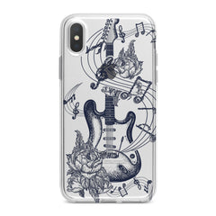 Lex Altern Floral Guitar Art Phone Case for your iPhone & Android phone.