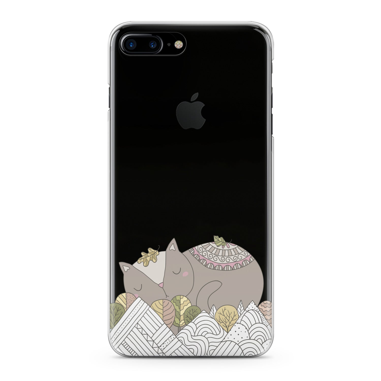 Lex Altern Poetic Cat Art Phone Case for your iPhone & Android phone.