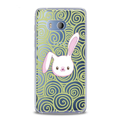 Lex Altern White Bunny Print HTC Case
