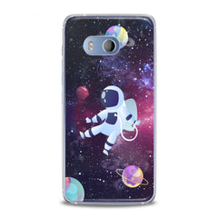 Lex Altern TPU Silicone HTC Case Drawing Astronaut