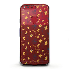 Lex Altern TPU Silicone Phone Case Yellow Constellations