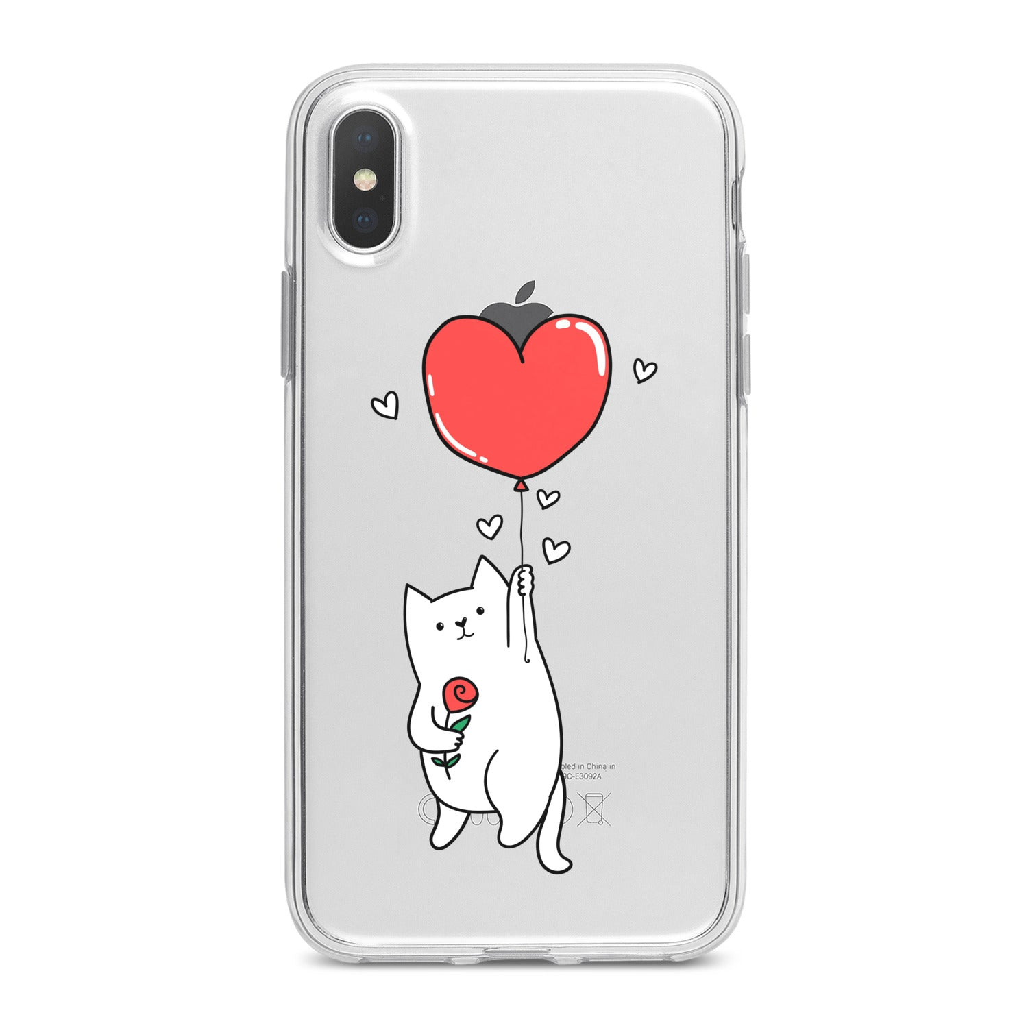 Lex Altern Heart Balloon Cat Phone Case for your iPhone & Android phone.