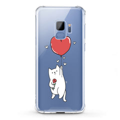 Lex Altern TPU Silicone Phone Case Heart Balloon Cat