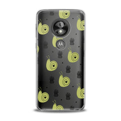 Lex Altern TPU Silicone Phone Case Green Snail Pattern