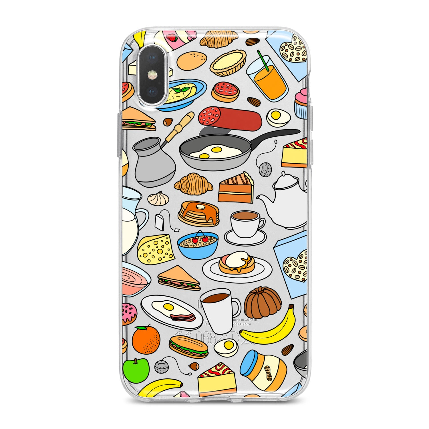 Lex Altern Chef Food Pattern Phone Case for your iPhone & Android phone.
