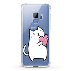 Lex Altern TPU Silicone Phone Case White Lovely Feline