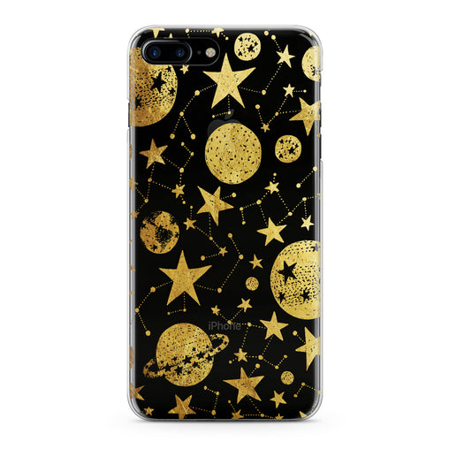 Lex Altern Golden Space Art Phone Case for your iPhone & Android phone.