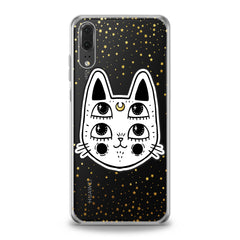 Lex Altern Kawaii Boho Cat Huawei Honor Case