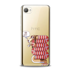 Lex Altern TPU Silicone HTC Case Sleepy Dachshund