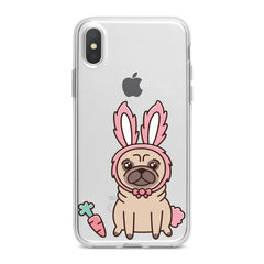 Lex Altern Pug Bunny Ears Phone Case for your iPhone & Android phone.
