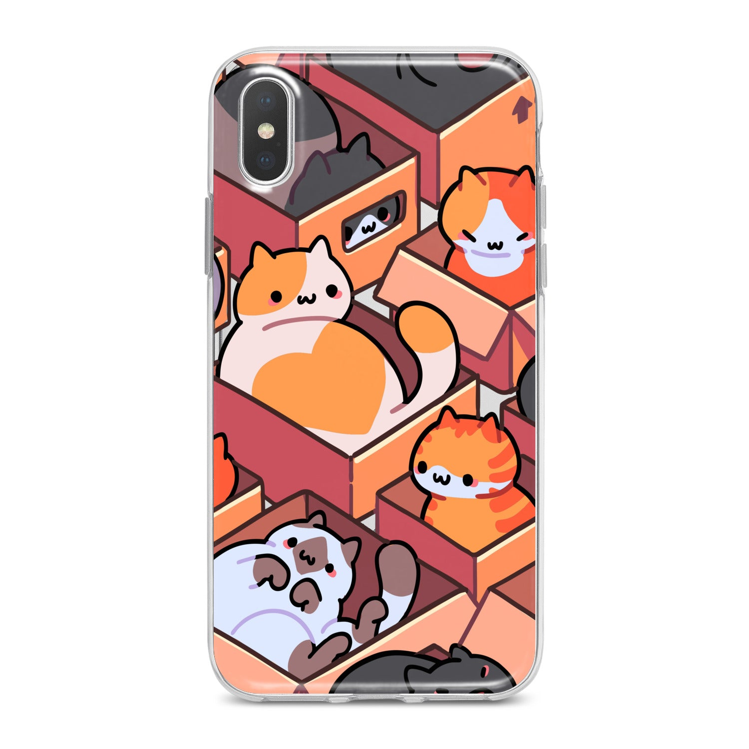 Lex Altern Cats in Boxes Phone Case for your iPhone & Android phone.