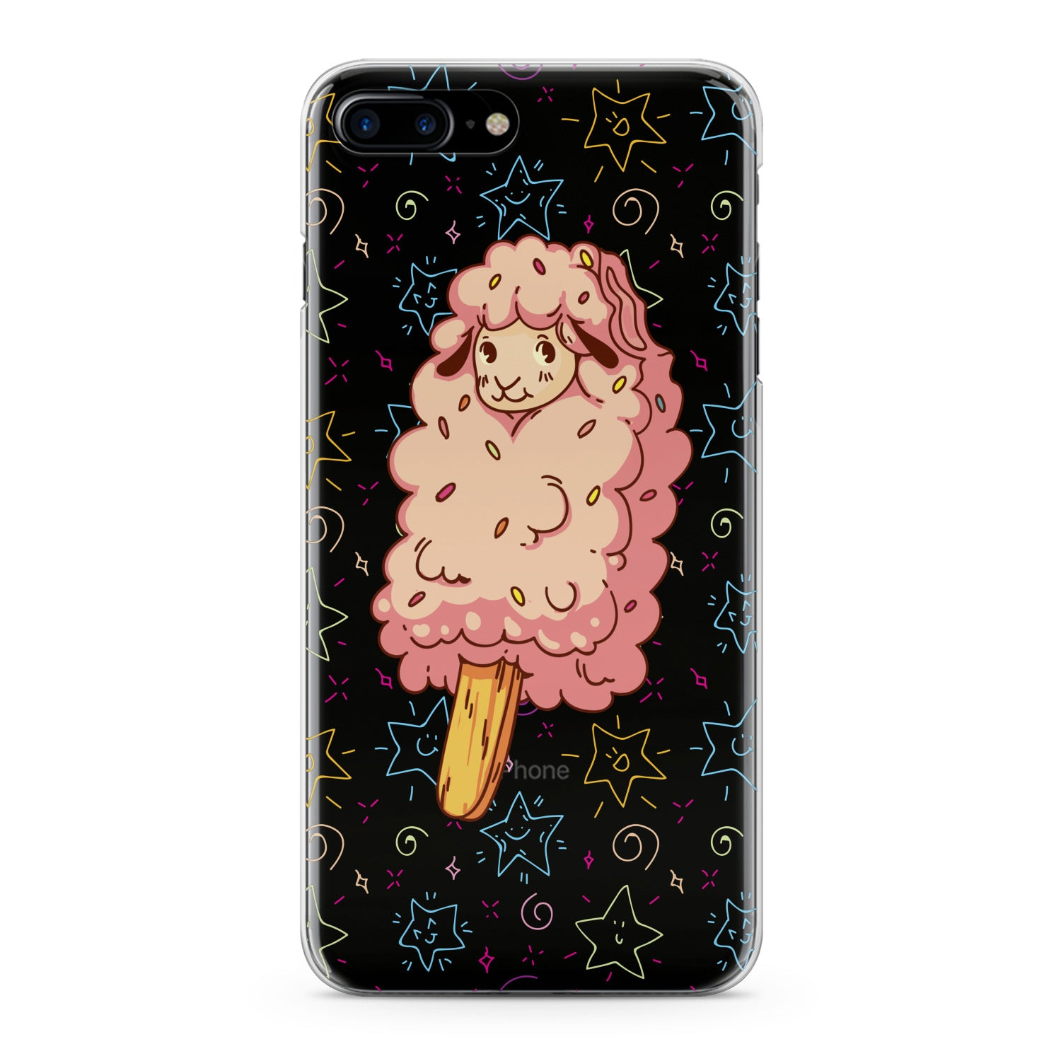 Lex Altern Cute Lamb Ice Cream Phone Case for your iPhone & Android phone.